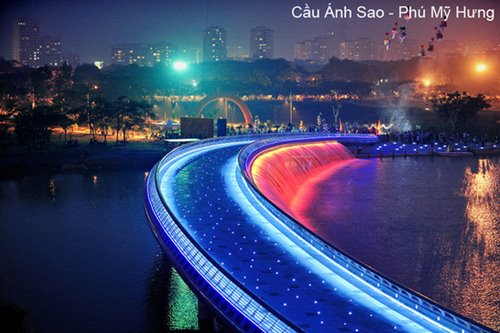 star bridge in Ho Chi Minh city
